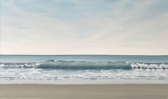 Climactic Wave 60 X 100 Cms O Il On Canvas £2100 By Dawn Reader
