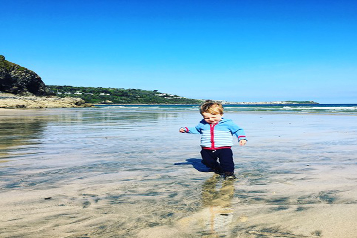 Isaac Running Free On Porthkidney
