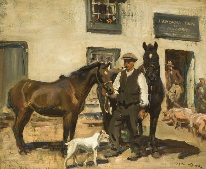 Munnings, Alfred James, 1878 1959; Lamorna Inn