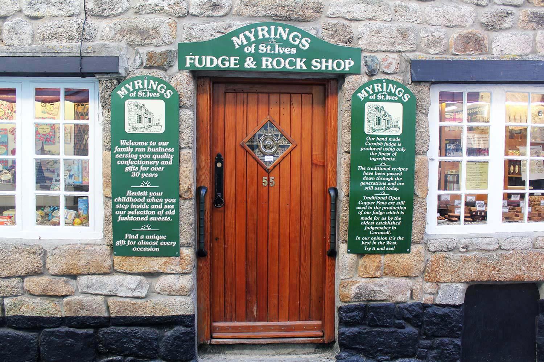 Myrings Fudge Amp Rock Shop St Ives Cornwall