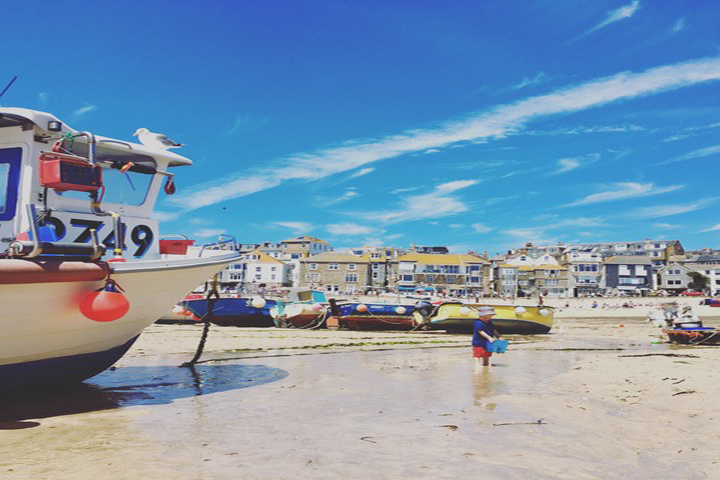 St Ives Harbour And Boats Square