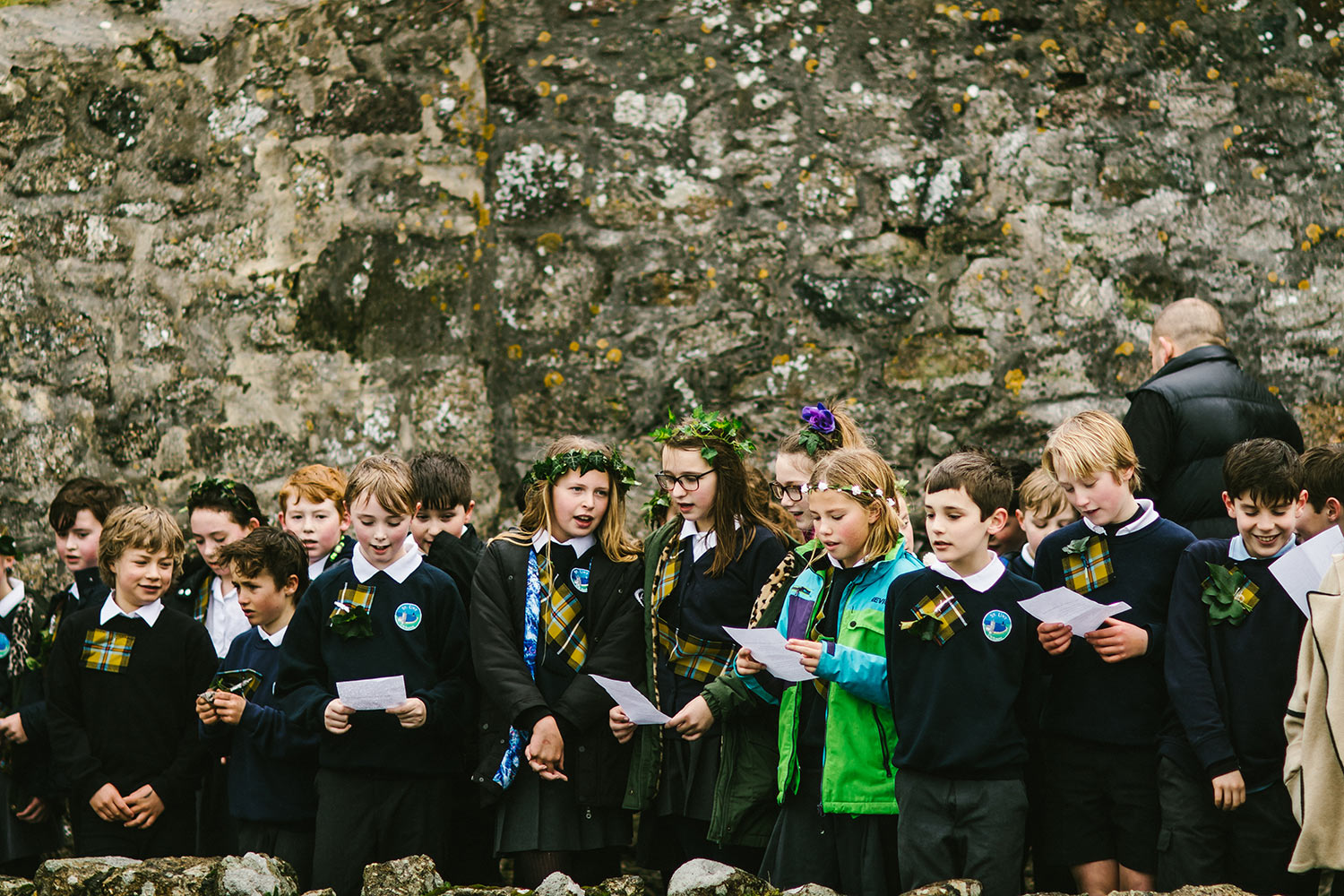 St Ives Feast Day Children Singing 1500