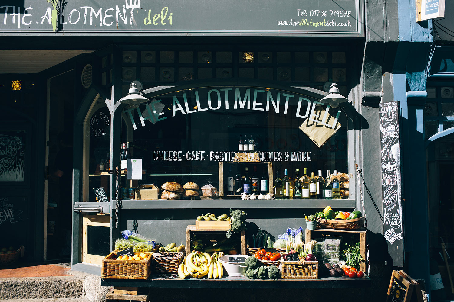 The Allotment Deli display of fruit and vegetables