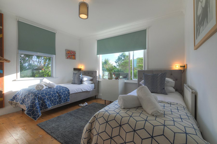 St Ives Cornwall Holiday House Stones Reef Twin Bedroom